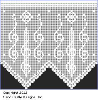Curtain Valence Free Patterns | Pattern Set 82: A Year of Filet Crochet