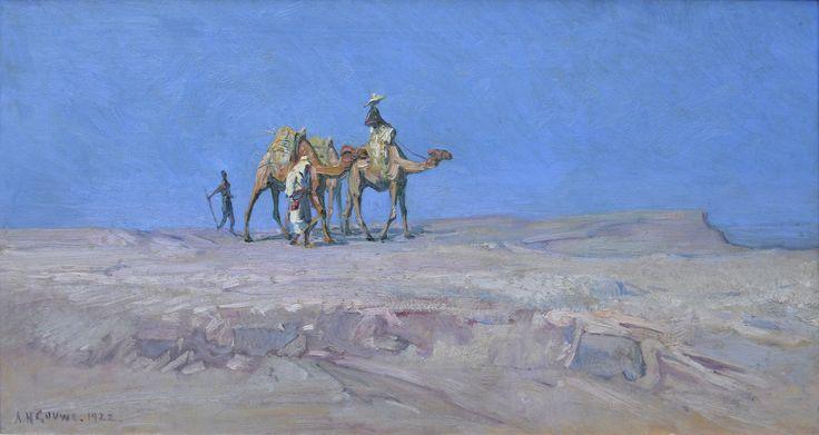 Adriaan Herman Gouwe (1875-1965) Titel: Woestijn - Artiquair