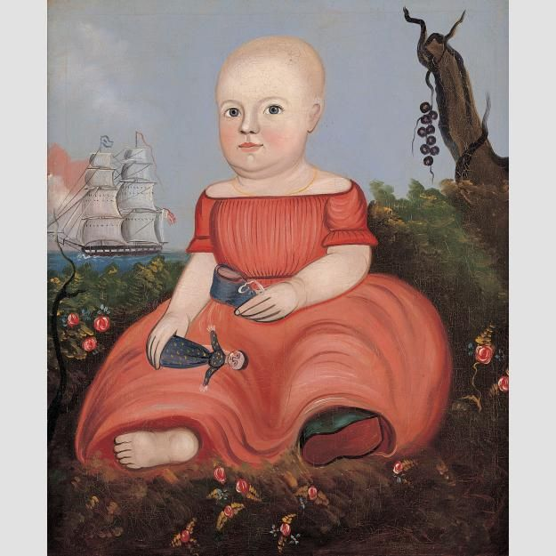 Child Holding Doll and Shoe Attributed to George G. Hartwell: