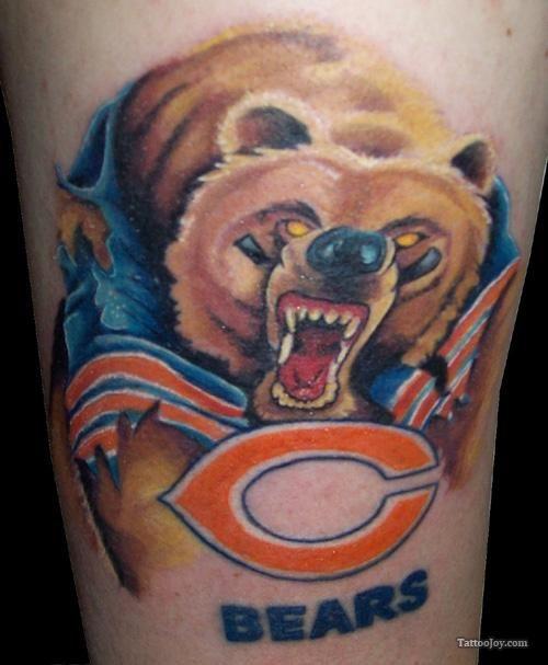 chicago bears tattoos | Chicago Bears Tattoo