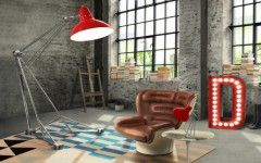 Red Floor lamps for your home designs FEAT red diana