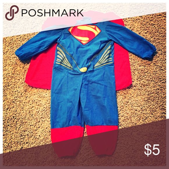 Toddler Superman Costume 2T toddler superman costume. Was only worn for 1 hour, perfect condition. Costumes Halloween