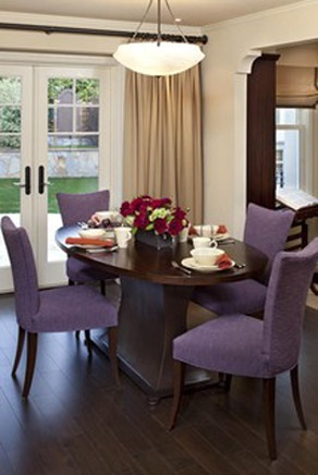Custom Oval Table Purple Dining Room Chairs Color Design Ideas