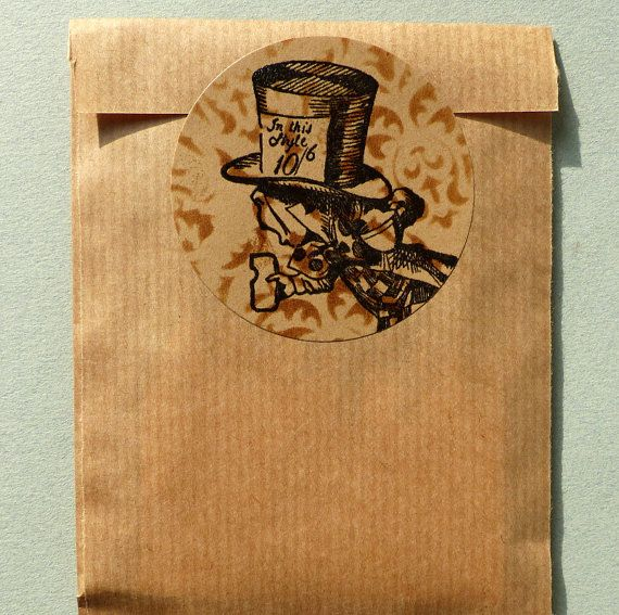 Alice in Wonderland Mad Hatter rubber stamp / by MAKIstamps