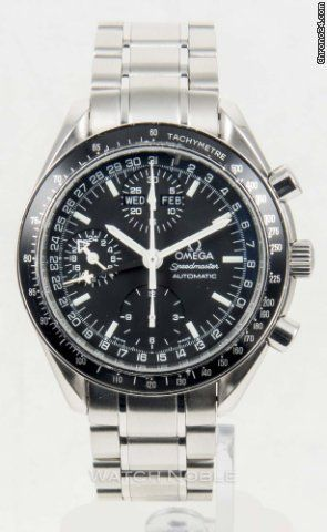 Omega Speedmaster Day Date ad: $1,895 Omega Speedmaster Day Date Black Chronograph 3520.50 Steel Ref. No. 3520.50; Steel; Automatic; Condition 1 (mint); Year 2008; With box; Location: United S