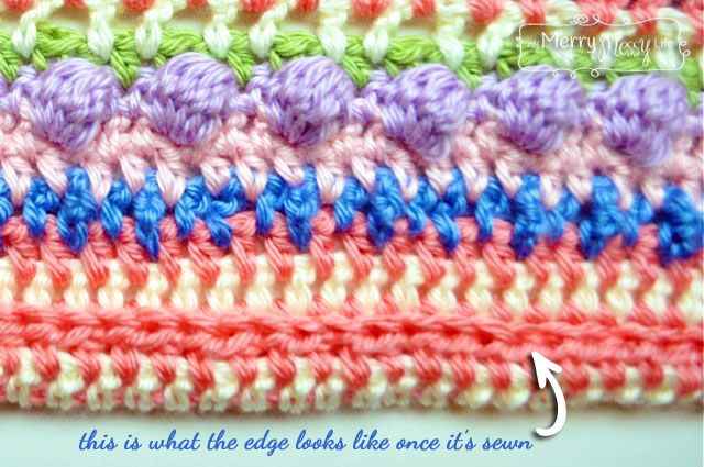 Crochet Baby Blanket Free Pattern - Close-up of the border
