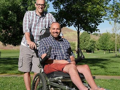 One friend's adventure and activprayer to push his disabled friend along the entire Camino de Santiago pilgrammage trail in Spain #idedicate #intention #activprayer