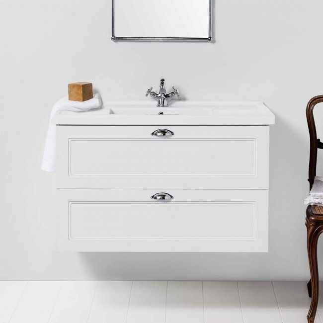 English Classic 1000 Wall Hung Vanity 2 Drawer In 2020 Wall Hung Vanity Furniture Vanity Vanity