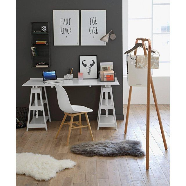 1000 id es propos de bureau treteau sur pinterest treteaux design table tr teau et. Black Bedroom Furniture Sets. Home Design Ideas