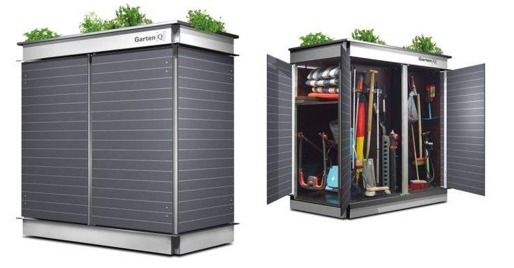 Flexibler Geräteschrank :: Garten[Q]Teras+: moderne Garage/Schuppen von Garten-Q GmbH