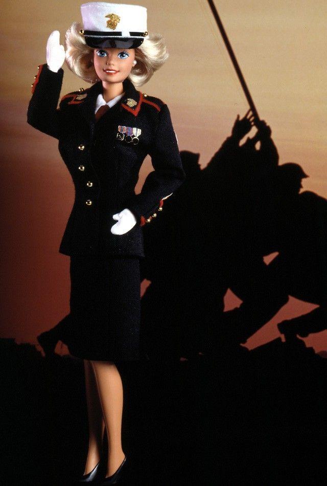 Marine Corps Barbie Doll - 1991 Stars & Stripes Barbie Series - Barbie Collector