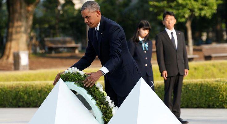 Obama em visita histórica a Hiroxima, onde um dia, a morte caiu do céu.
