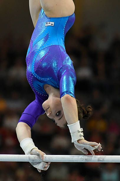 6e79398dbefd Russias Aliya Mustafina performs during the Womens Uneven Bars competition  of the European Artistic Gymnastics Championships 2016 in Bern Switzerland.
