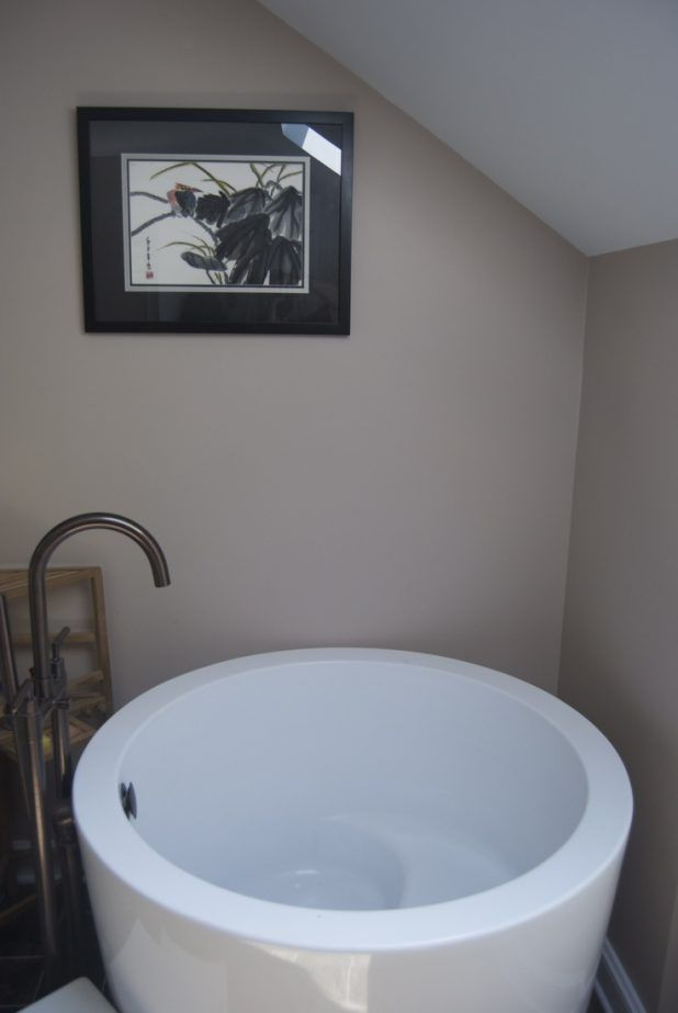 Photo Album Website  Collections Of The Japanese Soaking Tub Designs Simple Tiny House Japanese Soaking Tub in the Small Bathroom with Classic Dark Scheme Curved Shaped