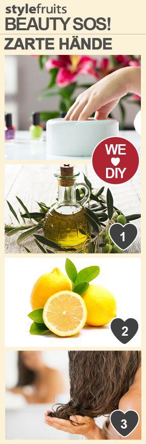 Babyzarte Hände bekommst Du mit dieser tollen Handmaske aus Olivenöl und Zitronensaft!