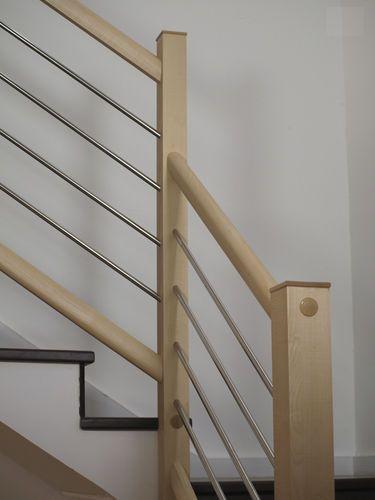 Barandilla de en acero inoxidable de madera t2 idealkit barandales pinterest stair - Barandilla de madera exterior ...