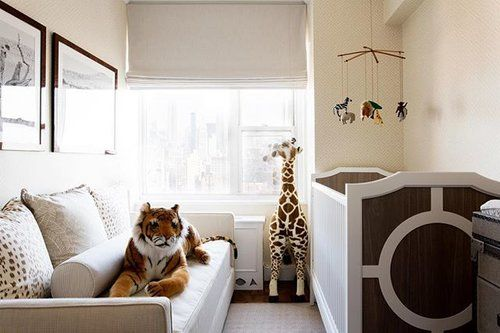 One of our favorite installs from this time last year - one chic downtown safari nursery. 🐘 Happy first day of summer everyone! #smallspaces #safarinursery #gangsallhere 📷 by @sketchfortytwo