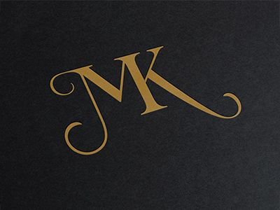 TYPOGRAPHY | I would love to do some sort of custom type for this logo. A slick, serif monogram would look sooooo nice.