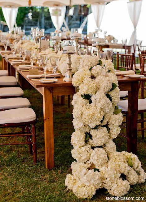 Wedding Ideas: Gorgeous Table Runner Centerpiece Designs