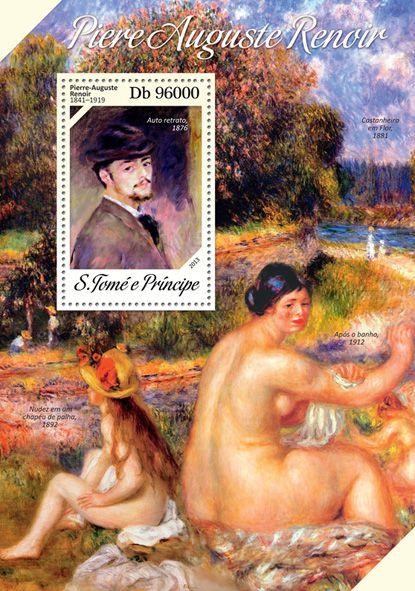 "ST 13605 bPierre Auguste Renoir, (""Self-portrait"")."