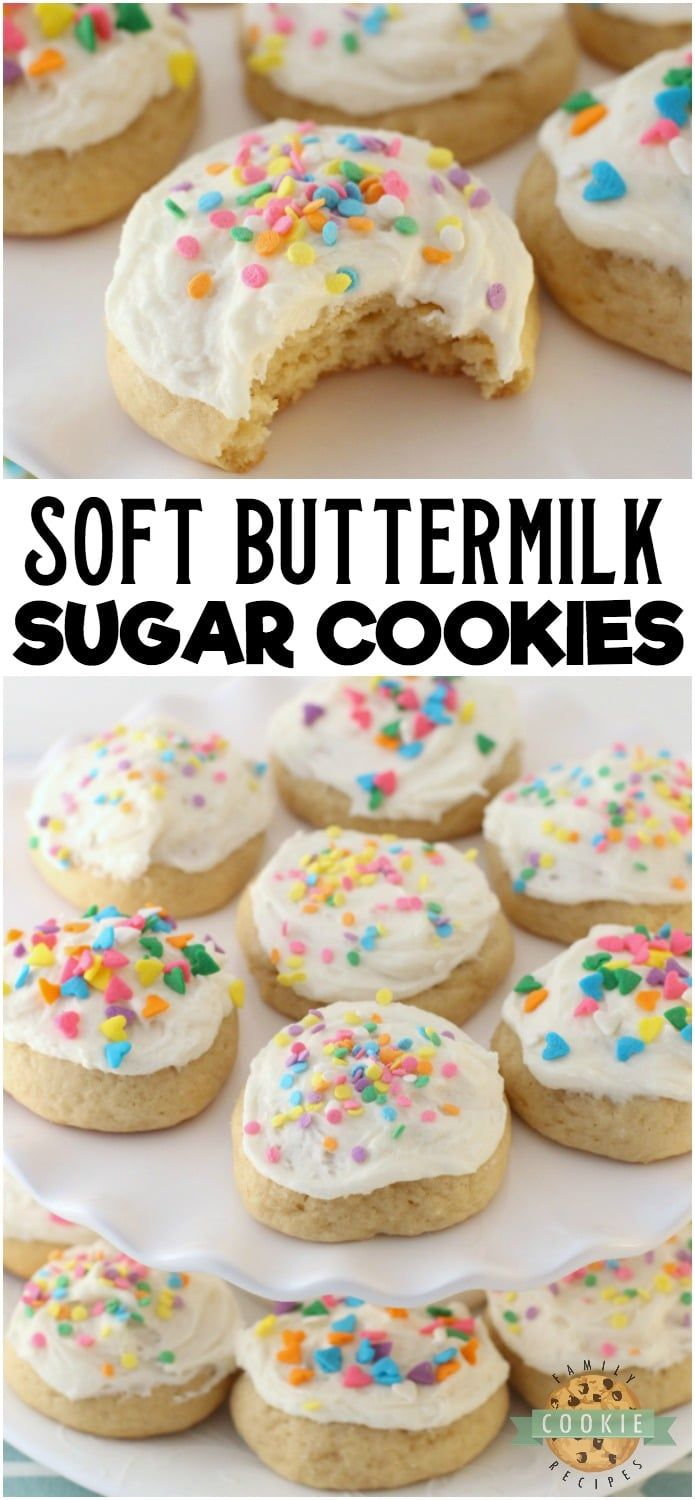 Buttermilk Sugar Cookies Family Cookie Recipes Recipe Sugar Cookies Recipe Buttermilk Recipes Cookie Recipes
