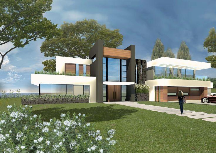 54 best modern house casa moderna uruguay montevideo for Casa minimalista uy