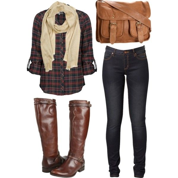 Love this: Dreams Closet, Fall Wint, Fall Looks, Fall Outfits, Fallfashion, Plaid Shirts, Fall Fashion, Bags, Boots