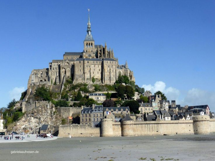 Beautiful day on Mont St. Michel in France