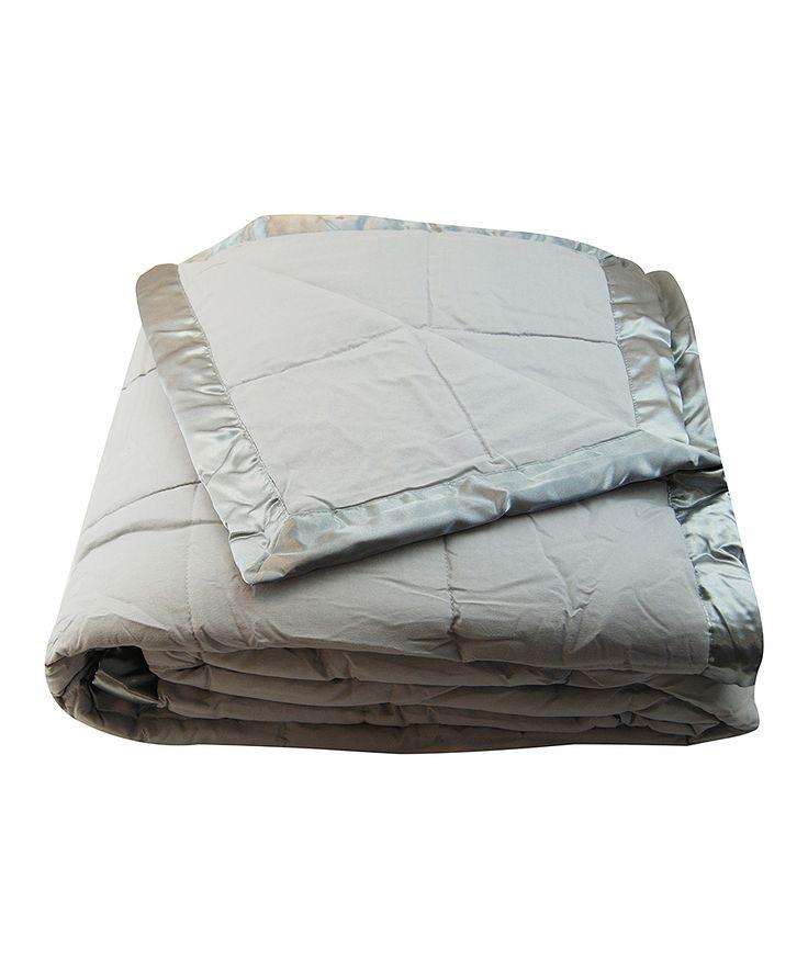 Gray Microfiber Blanket