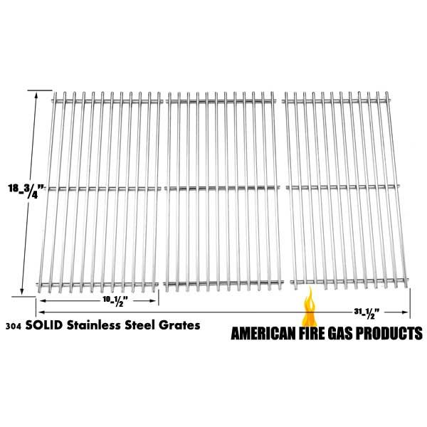 3 PACK STAINLESS STEEL COOKING GRID FOR OUTDOOR GOURMET BQ05037-2, BBQTEK GSC3219TA, GSS3219B GAS MODELS Fits Compatible Outdoor Gourmet Models : BQ05037-2, BQ06042-1, BQ06W06-A Read More @http://www.grillpartszone.com/shopexd.asp?id=35898&sid=25985