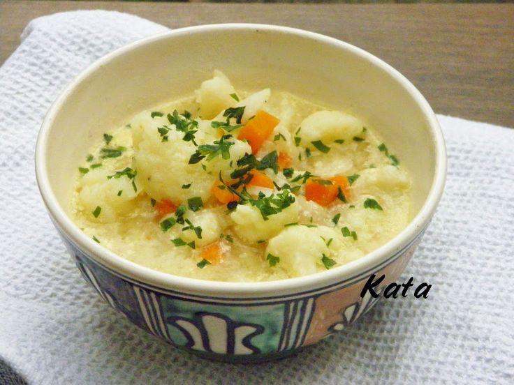 KataKonyha: Gyömbéres-tejfölös karfiolleves