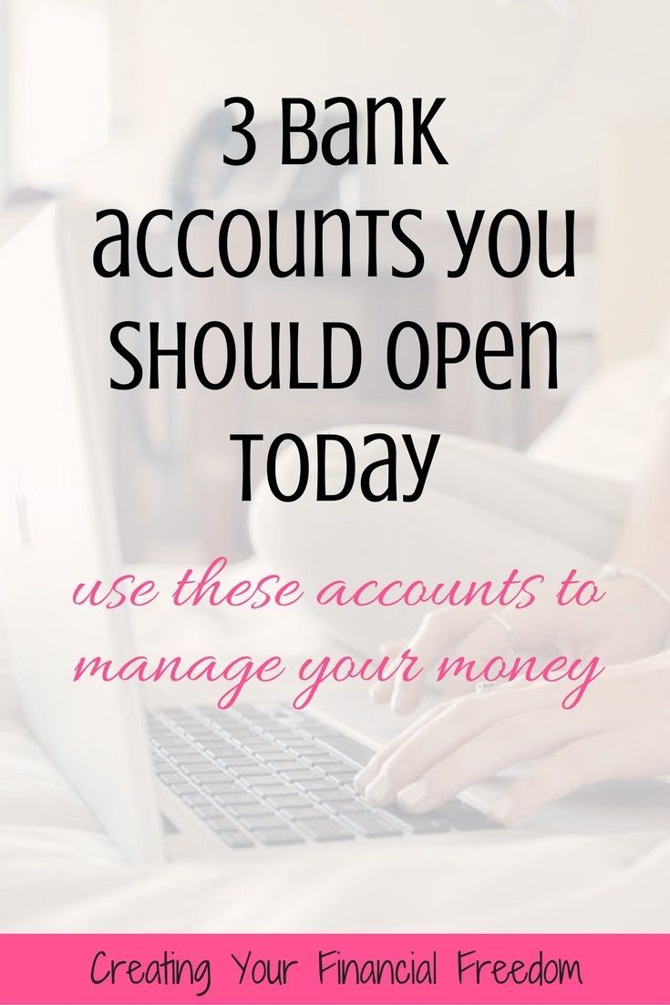 Learn what 3 bank accounts you need in order to manage your money the right way. This was such a great resource! Now I know what bank accounts I really need for myself financially!