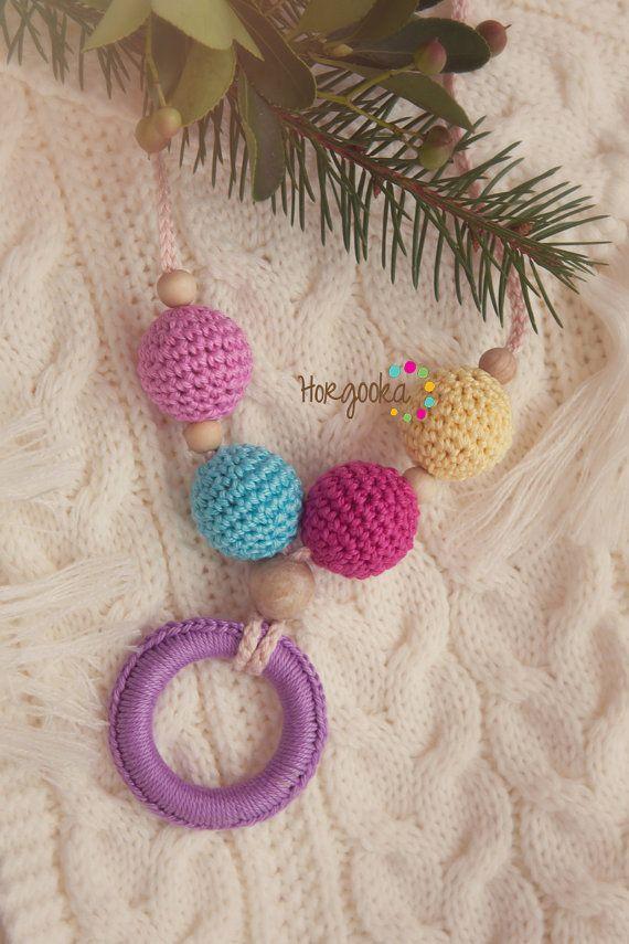 Wonderful teething necklace breastfeeding necklace by Horgooka