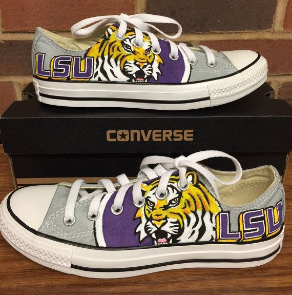 LSU Tigers Low Top Converse