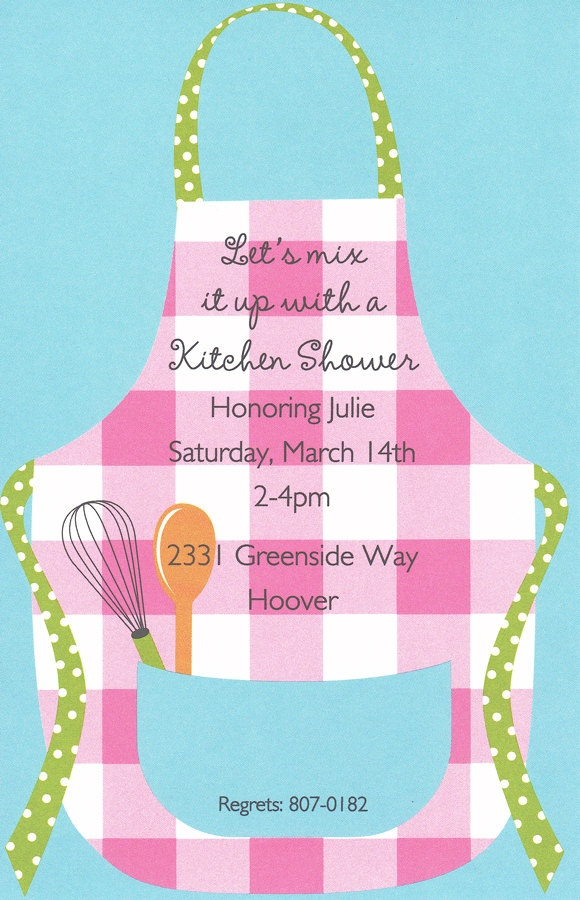 13 best apron showers images on pinterest kitchen shower wedding parties and wedding showers for Imprintable bridal shower invitations