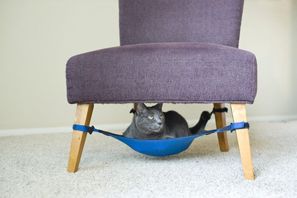 Ingenious Hammock-Like Cat Crib Perfectly Blending in Small Homes