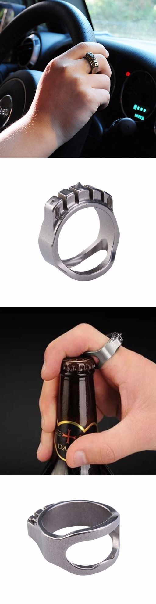 MecArmy Tactical Ring Self Defense Weapon With Hidden Bottle Opener Function: