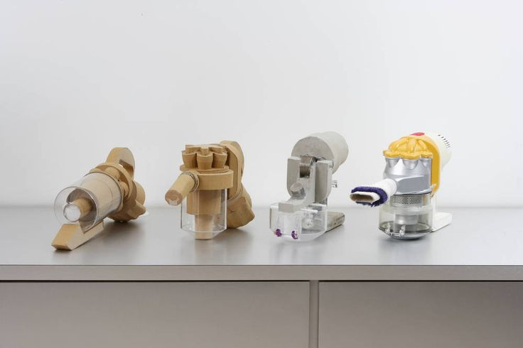 Dyson engineers make a lot of prototypes - they start as models made from card and foam.