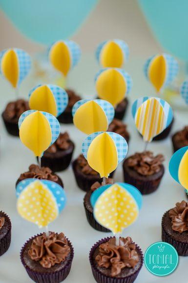 Toppers de Docinhos ou Cupcakes Balão 3d