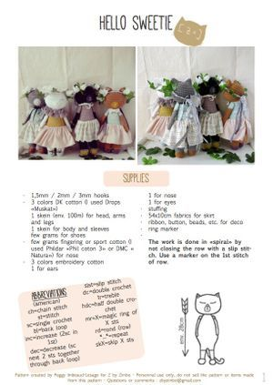 Hello Sweetie pattern - english version