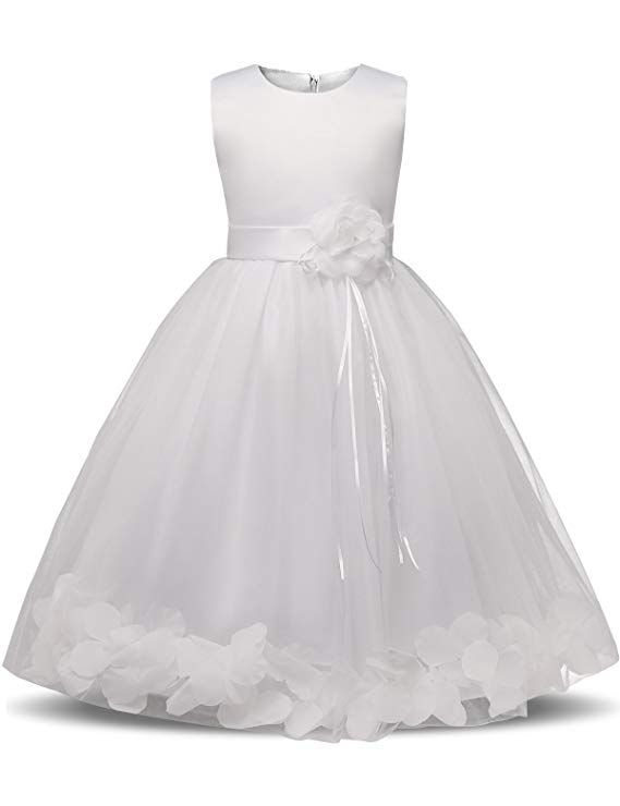 cd173a197e15a Price: $8.49 - $18.49 Amazon.com: NNJXD Girl Tutu Flower Petals Bow Bridal