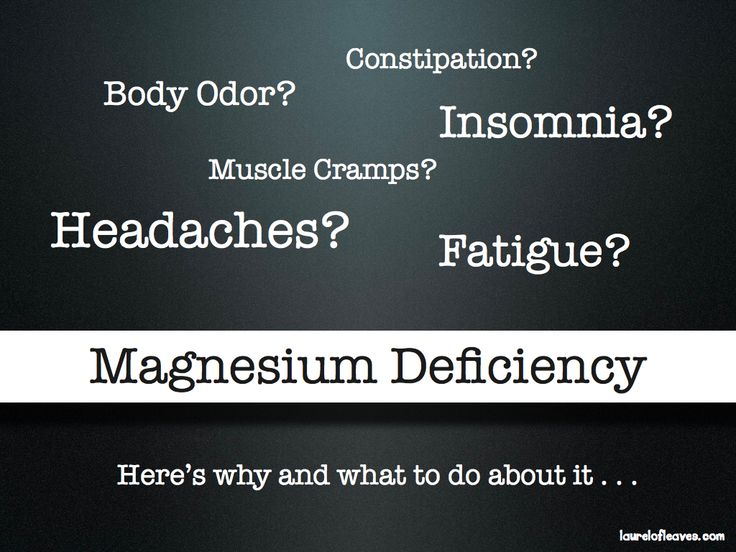 Healing magnesium deficiency