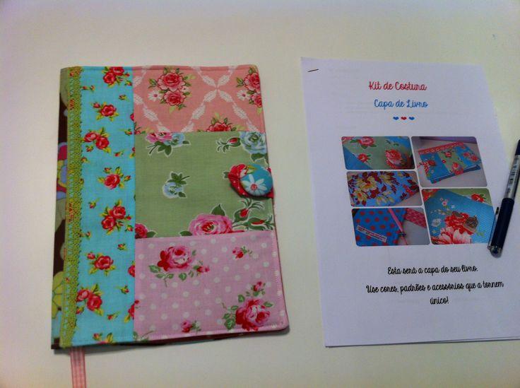 Primeiro workshop de costura: Capa de livro