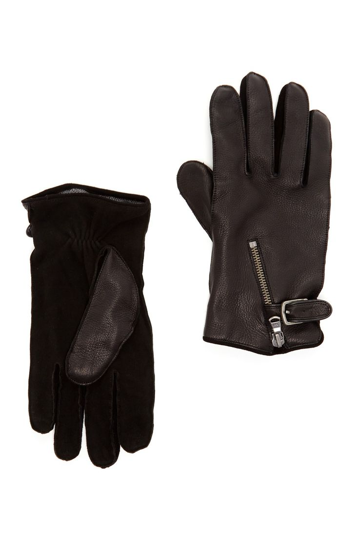 Jrc motorcycle gloves - John Varvatos Star Usa By John Varvatos Wool Lined Pebble Grain Deerskin Gloves