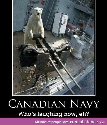 Canadian Navy look scary