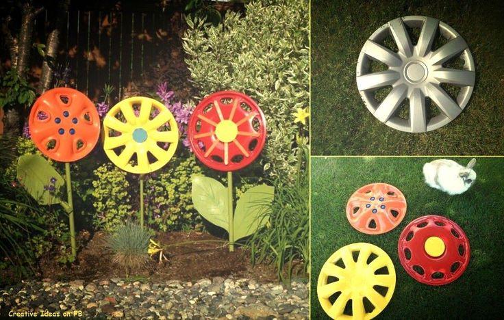 bloemen maken van een wieldop