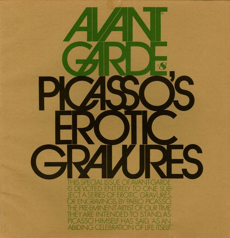 Avant Garde is a seminal, but somewhat overlooked by a wider public, magazine, which broke taboos, rattled some nerves and made a few enemies.