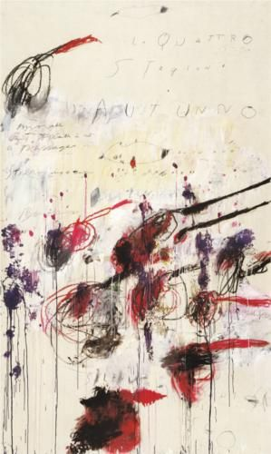 Quattro stagioni, Part III Autunno - Cy Twombly  1994