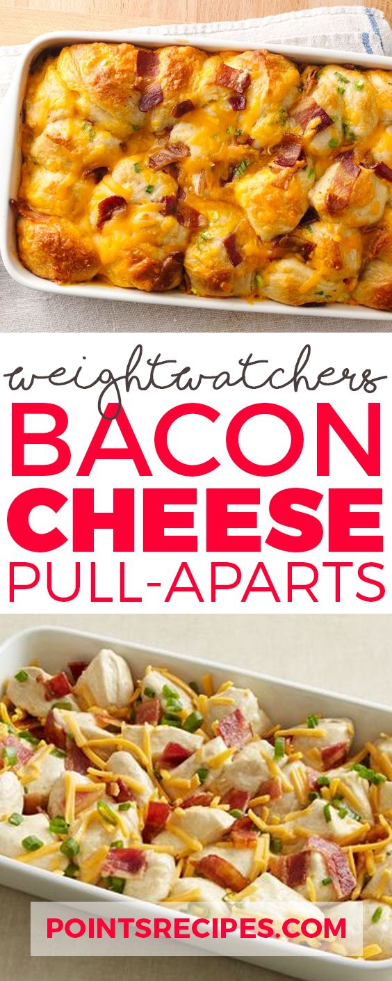 Bacon-Cheese Pull-Aparts (Weight Watchers Smartpoints)