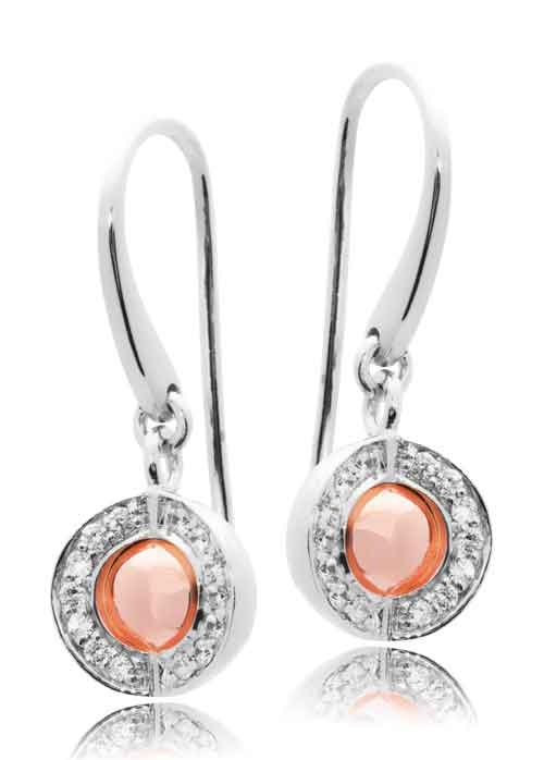 Joy de la Luz | Earrings cz silver/rosé  €95,00